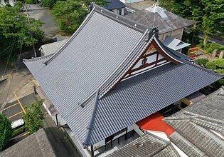 溝辺町照明寺様本堂葺き替え工事のイメージ